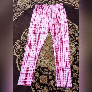 Lularoe Tc2 tie dye leggings purple white